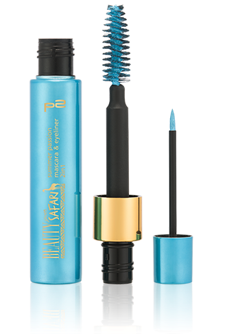 Preview: p2 Limited Edition: Beauty goes Safari - summer passion mascara & eyeliner 2in1 - www.annitschkasblog.de