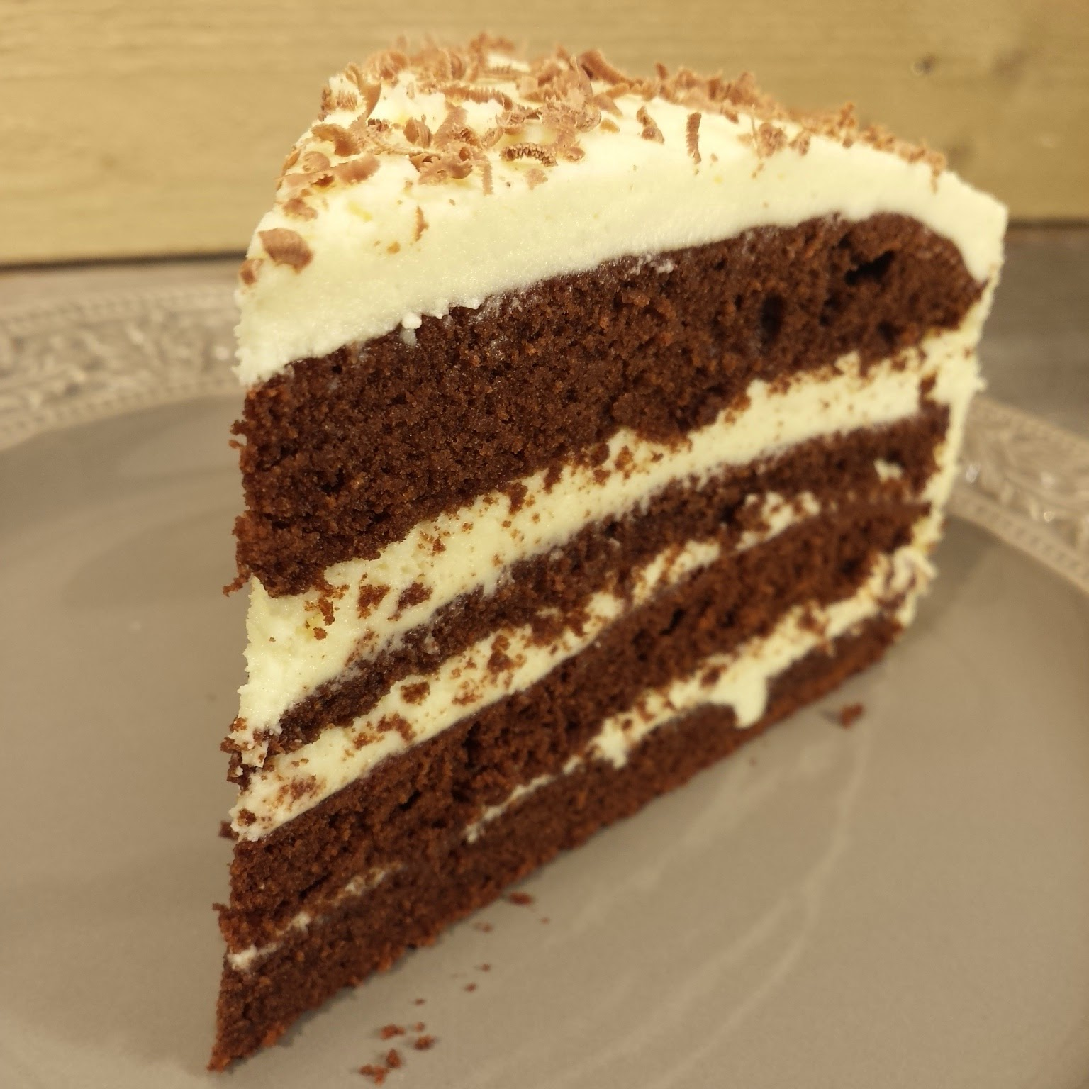 vit chokladganache tårta