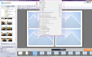 Pixum Fotobuch Software Menü