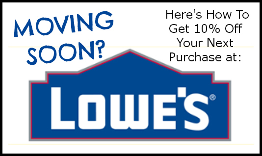 Here's How To Save 10% Off Your Next Purchase at Lowe's, if You've Got a Move In The Near Future ...