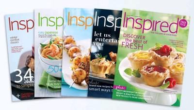 Brinde Gratis Revista Inspired sobre culinária