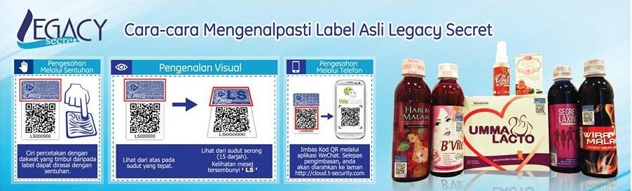 secret laxing, legacy secret, produk kurus berkesan, cara mengenalpasti keaslian produk legacy secret