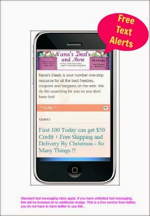 Never Miss a Freebie, get Nana's Text Alerts - Click Photo Below