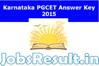 Karnataka PGCET Answer Key 2015