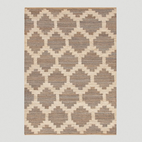 Cost Plus World Market Gray Jiya Flat-Woven Hemp Rug