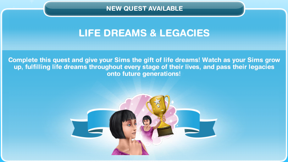 Hairstyles Quest Sims Freeplay : Sims Freeplay Quests and Tips: Life Dreams & Legacies Quest