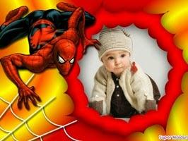 Montagem de fotos dia das crianças com Homem aranha