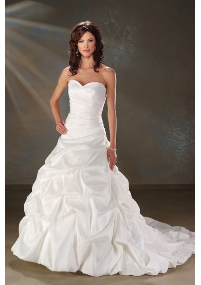 Wedding dress with pickups wedding ideas for Pick up wedding dress