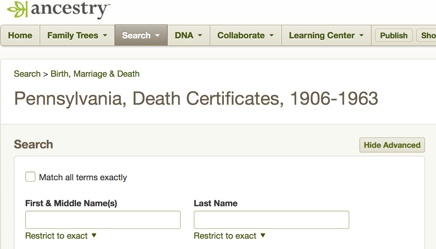 Pennsylvania Death Records Online & Free to PA Residents