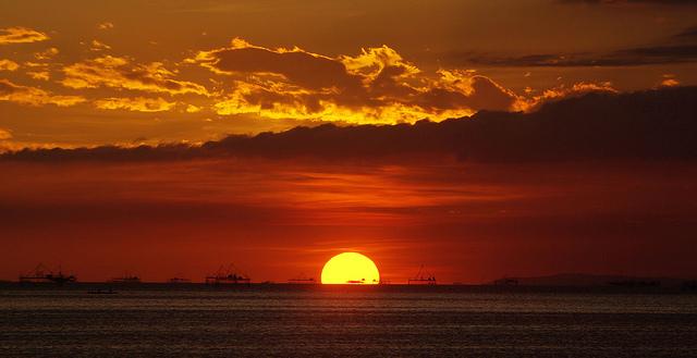 sunset in philippine