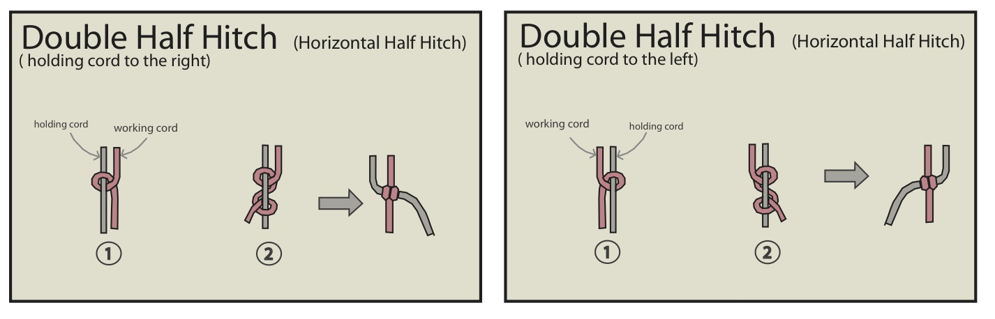 Double Half Hitch Knot Macrame Double Half Hitches Before