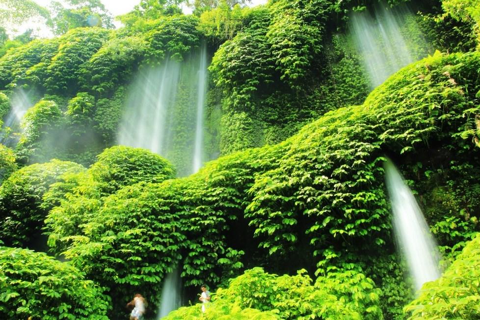 Foto Air Terjun Benag Kelambu slowspeed