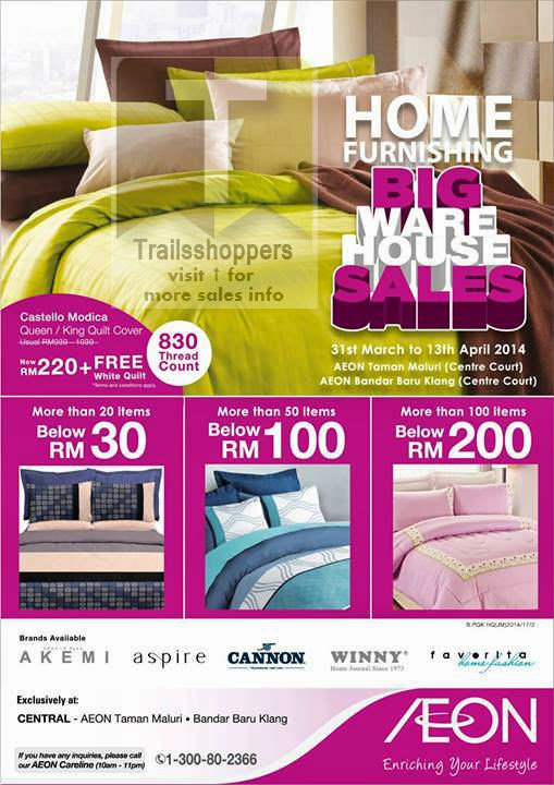AEON Malaysia Jusco Bedding Warehouse Sale