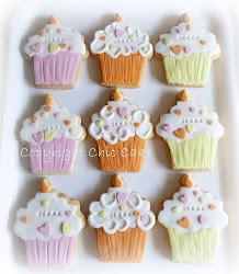 Biscotti compleanno a forma di cupcake