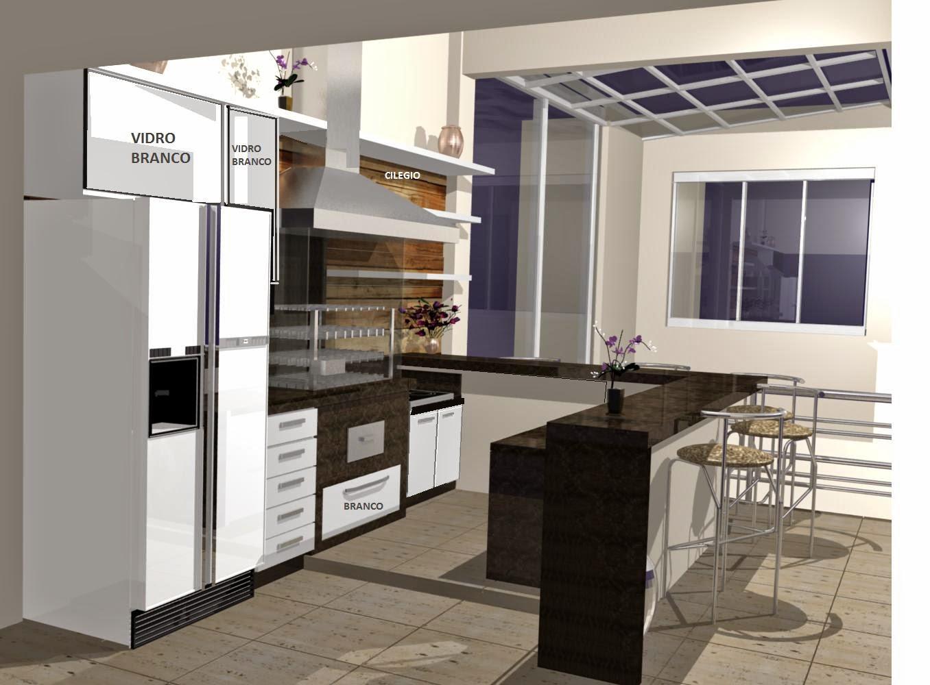 Cozinha Planejada Americana Branca Great Ilha Vermelha With Cozinha
