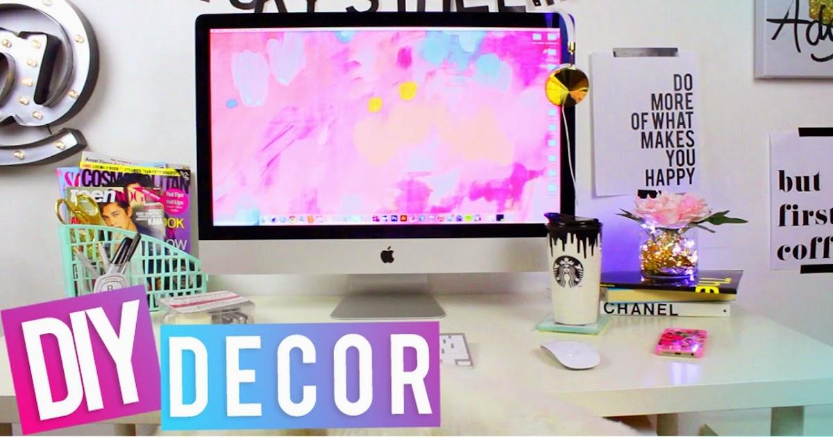 Hellomaphie Desk Tour Diy Desk Decor