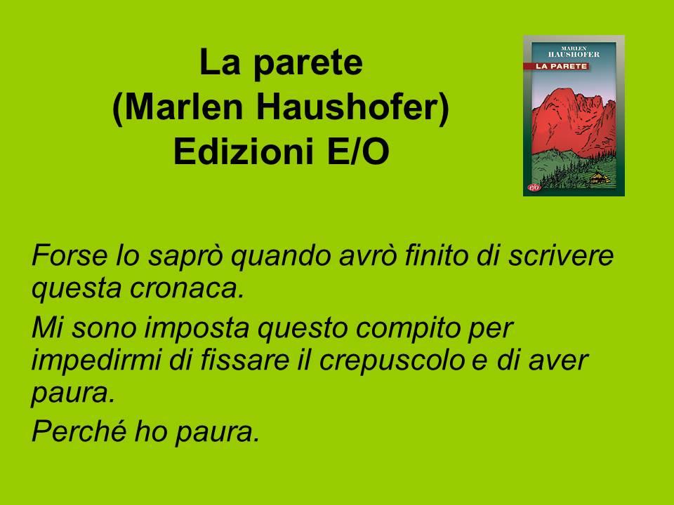 La parete, Marlen Haushofer