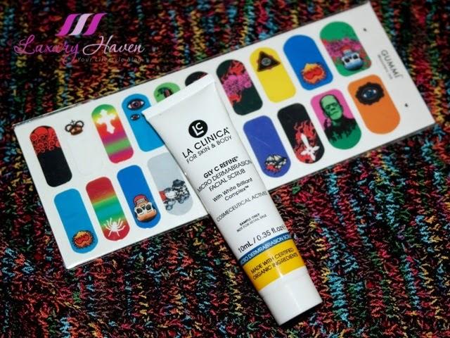 la clinica facial exfoliating scrub gummi nail wraps