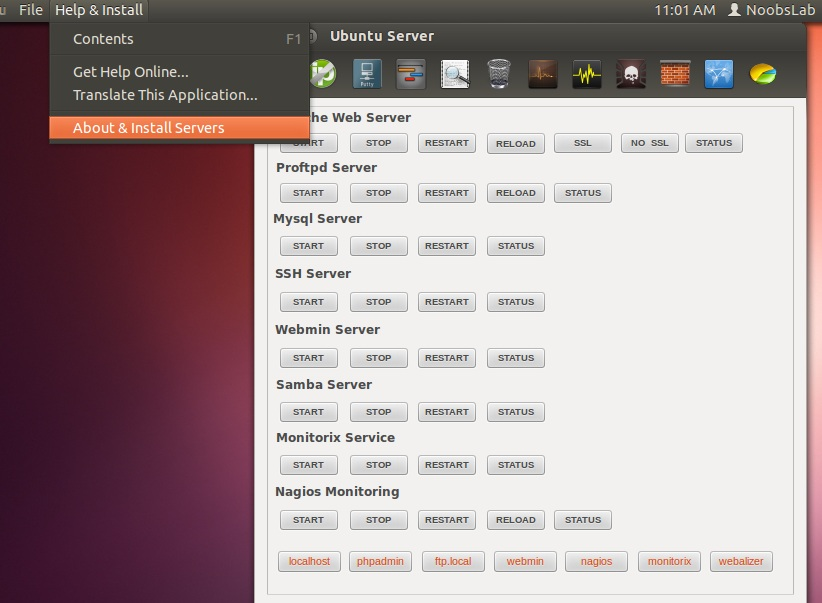 linux media install ubuntu server manager utility in