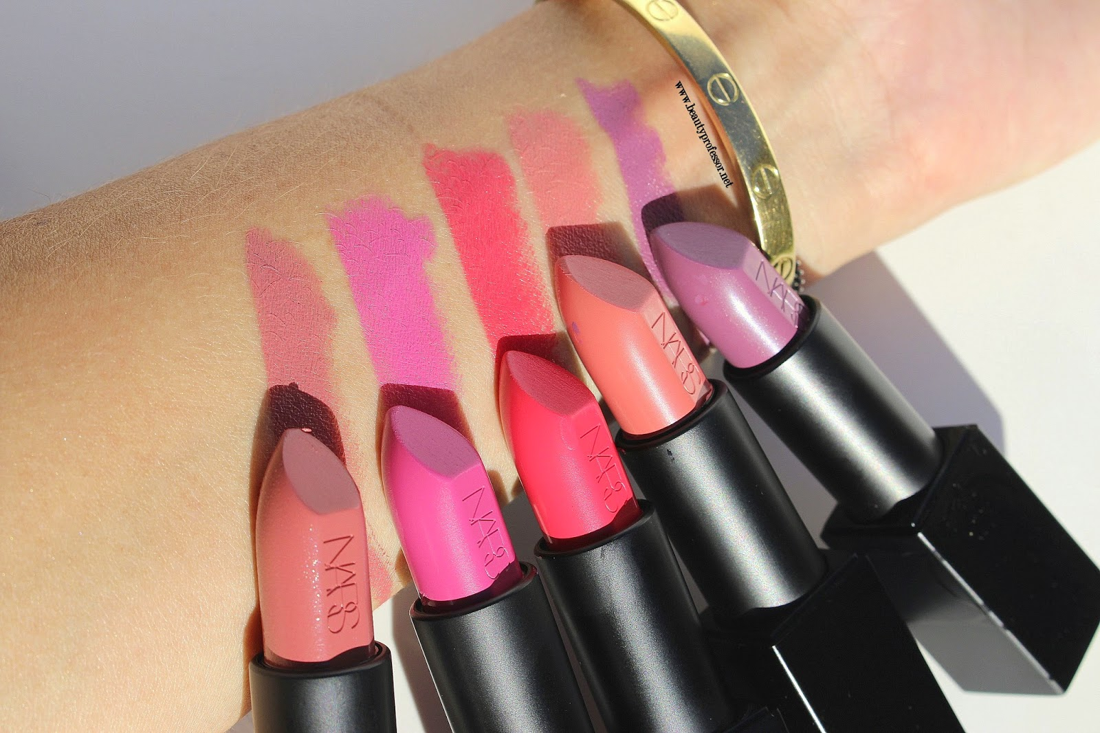 Extrêmement Beauty Professor: NARS Audacious LipstickSwatches of My Selections! LB35