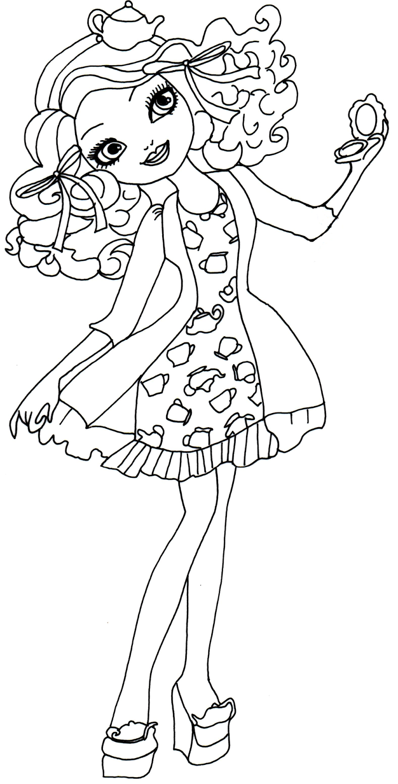 Free printable ever after high coloring pages december 2013 for Madeline coloring pages printable
