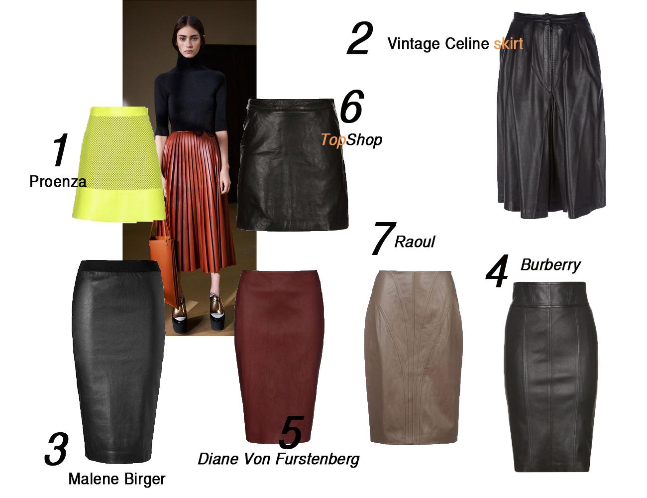 leather skirt pleated skirt pencil skirt mini skirt