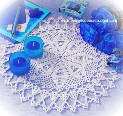 10 patrones de carpetas caminos de mesa y cortinas para for Caminos para mesas redondas
