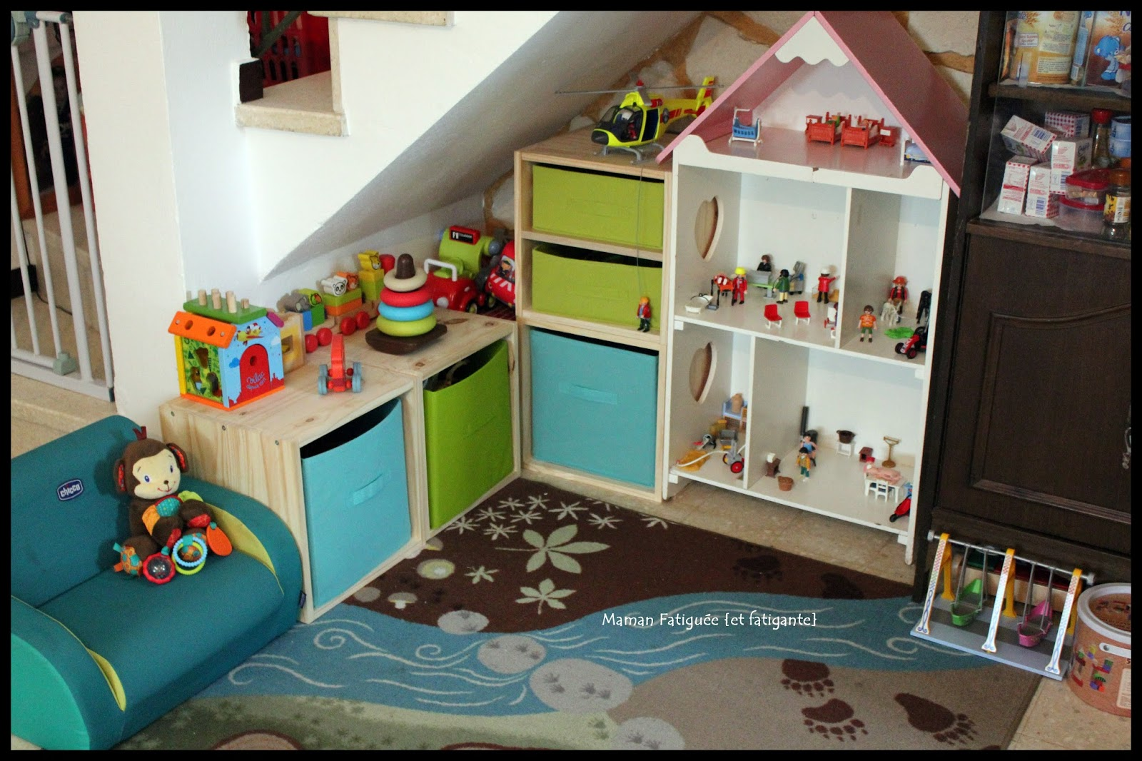 Le coin jeux du salon maman fatigu e et fatigante for Salon des enfants