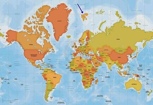 Svalbard Adaları Haritadaki Yeri