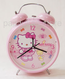 Jam Dinding Hello Kitty