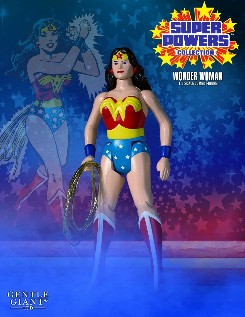"Wonder Woman DC Comics Super Powers Collection 12"" Jumbo Vintage Action Figure by Gentle Giant"