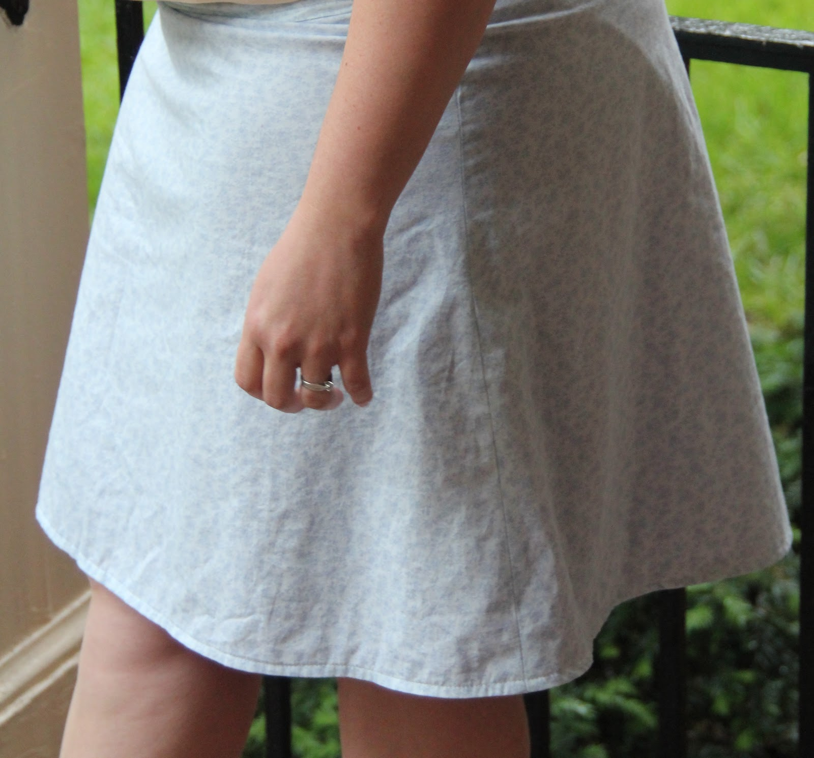 how to add elastic to lined skirt