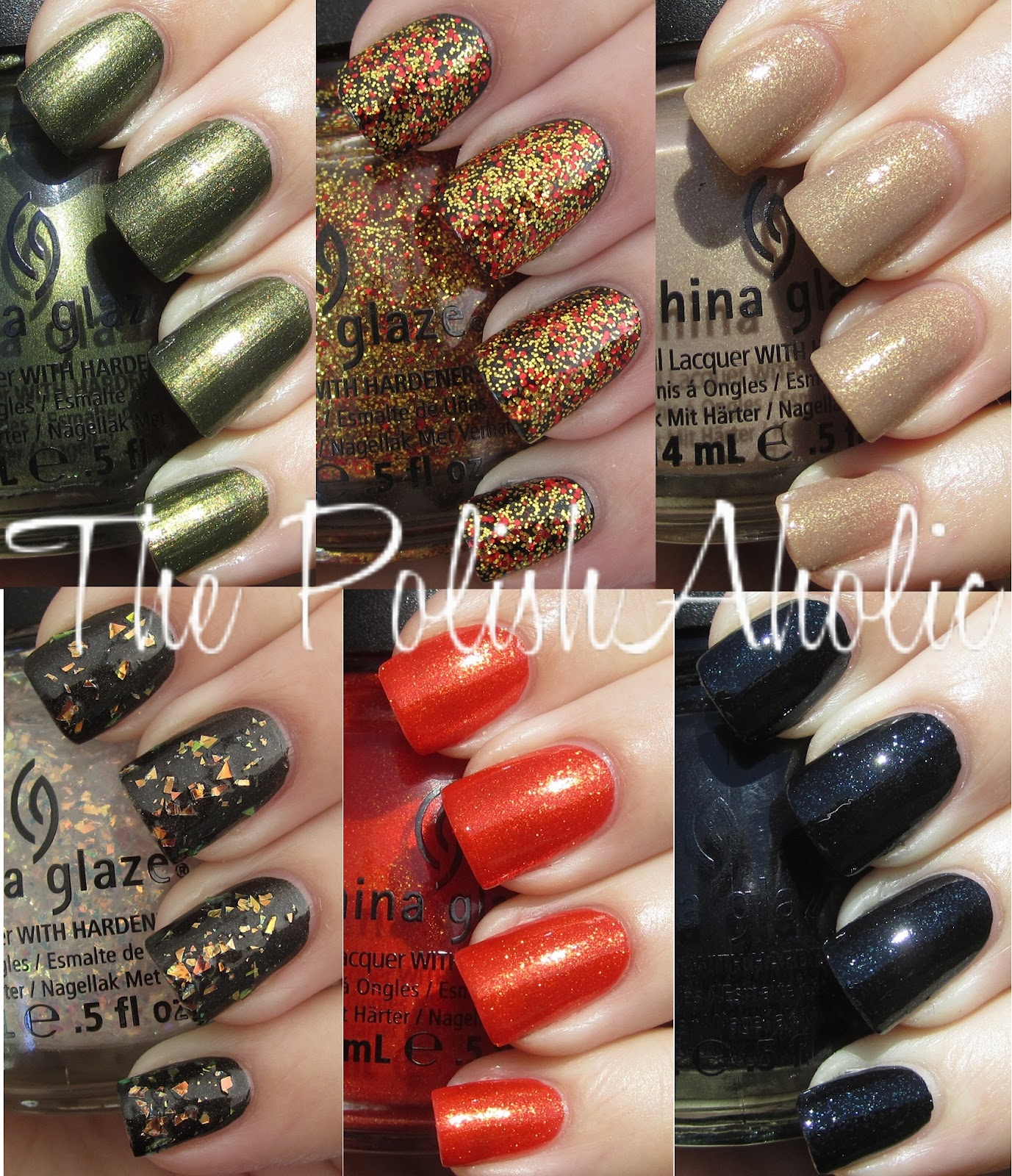 The PolishAholic: China Glaze Hunger Games Collection Swatches!