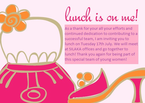 Sokhas Blog As a thank you Sokha here is an Invitation to lunch