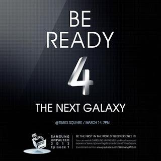 Samsung Galaxy S IV Akan hadir pada 14 Maret 2013