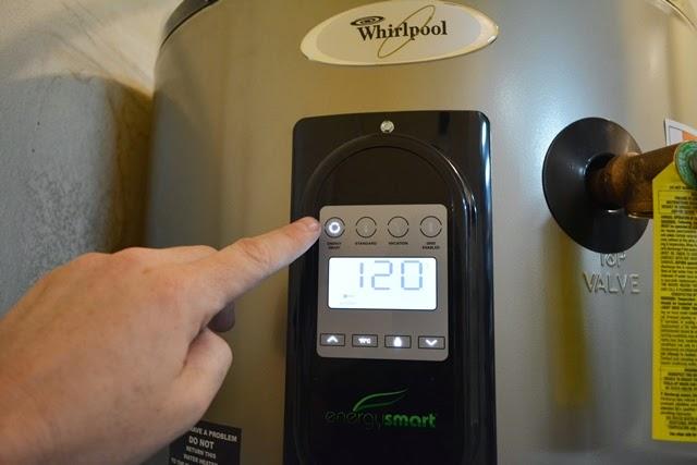Whirlpool 50 Gallon 12-Year Electric Water Heater - control panel