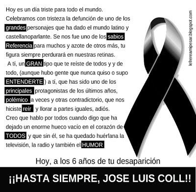 Hasta siempre, Jodse Luis Coll