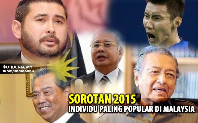 Siapakah 10 Individu Paling Popular Di Malaysia Dalam Tahun 2015?