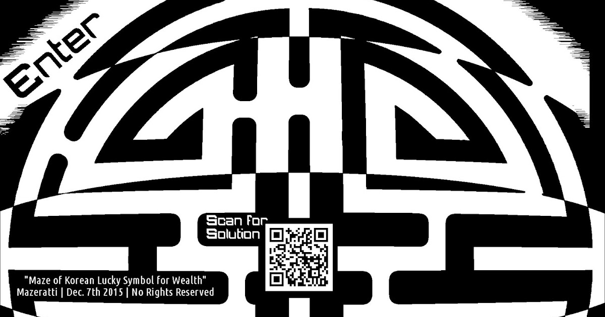 Awesome Mazes Korean Wealth Lucky Maze