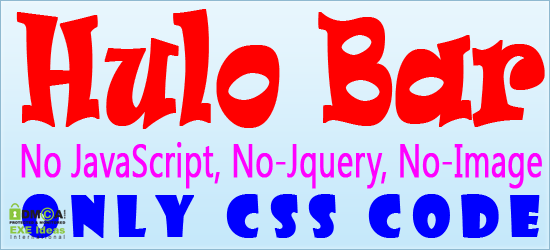 Free Hulo Bar For Blogger And Website With CSS Only