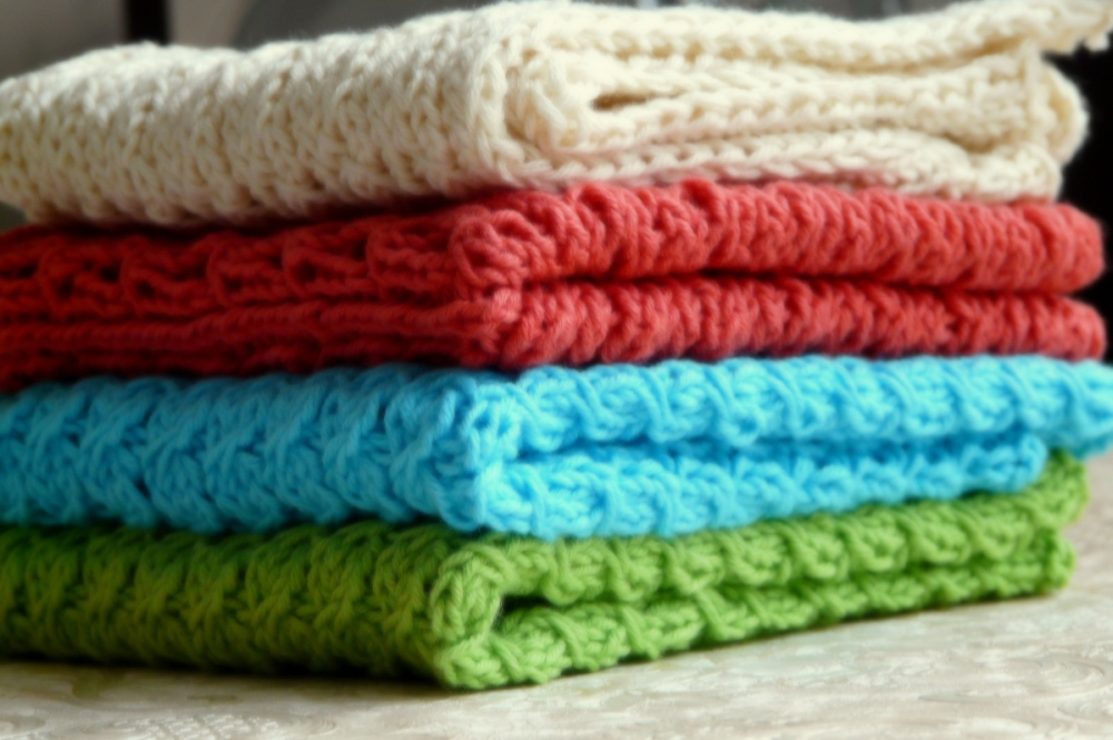gestrickte Handtücher