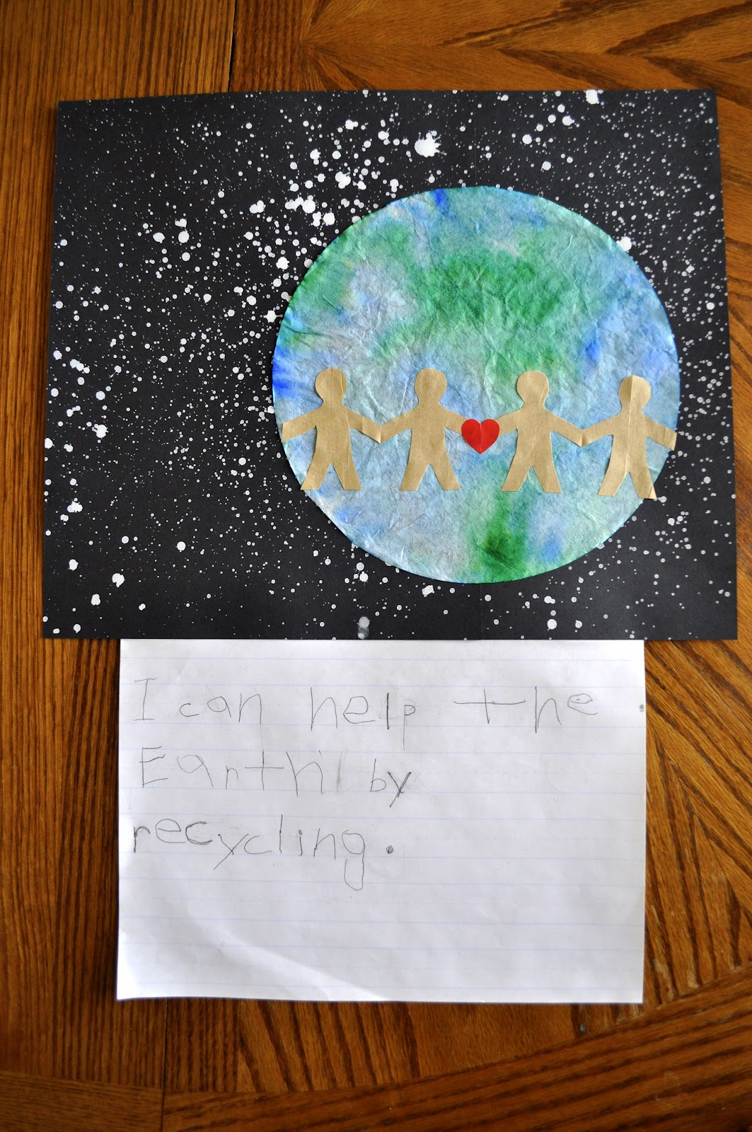 earth day craft with writing prompt i heart crafty things