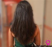 Taglio di capelli scalato a v