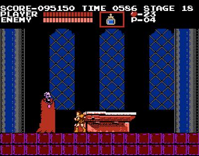 Dracula the vampire, le boss dracula dans castlevania sur nes
