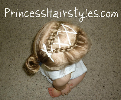 ribbon french braid baby hair