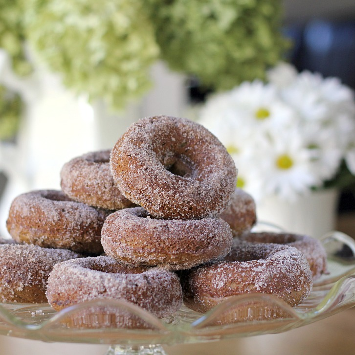 With a Grateful Prayer and a Thankful Heart: Baked Cider Doughnuts