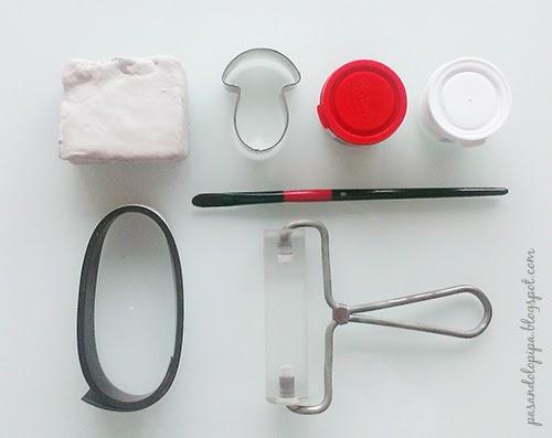 pasandolopipa | imán con forma de seta (materiales)