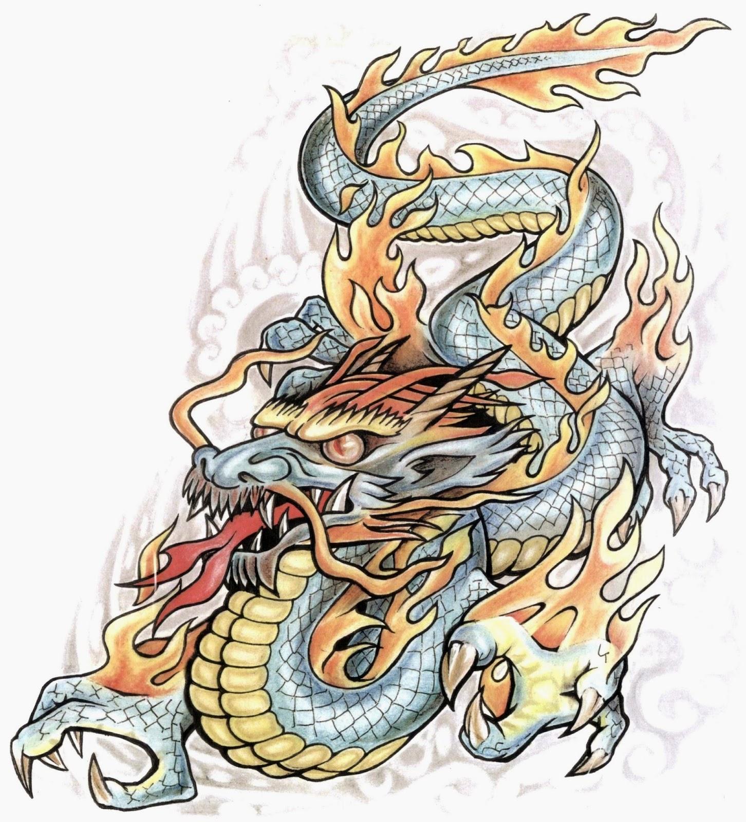 татуировки дракона эскизы - Драконы Тату эскизы Фото галерея Идеи татуировок