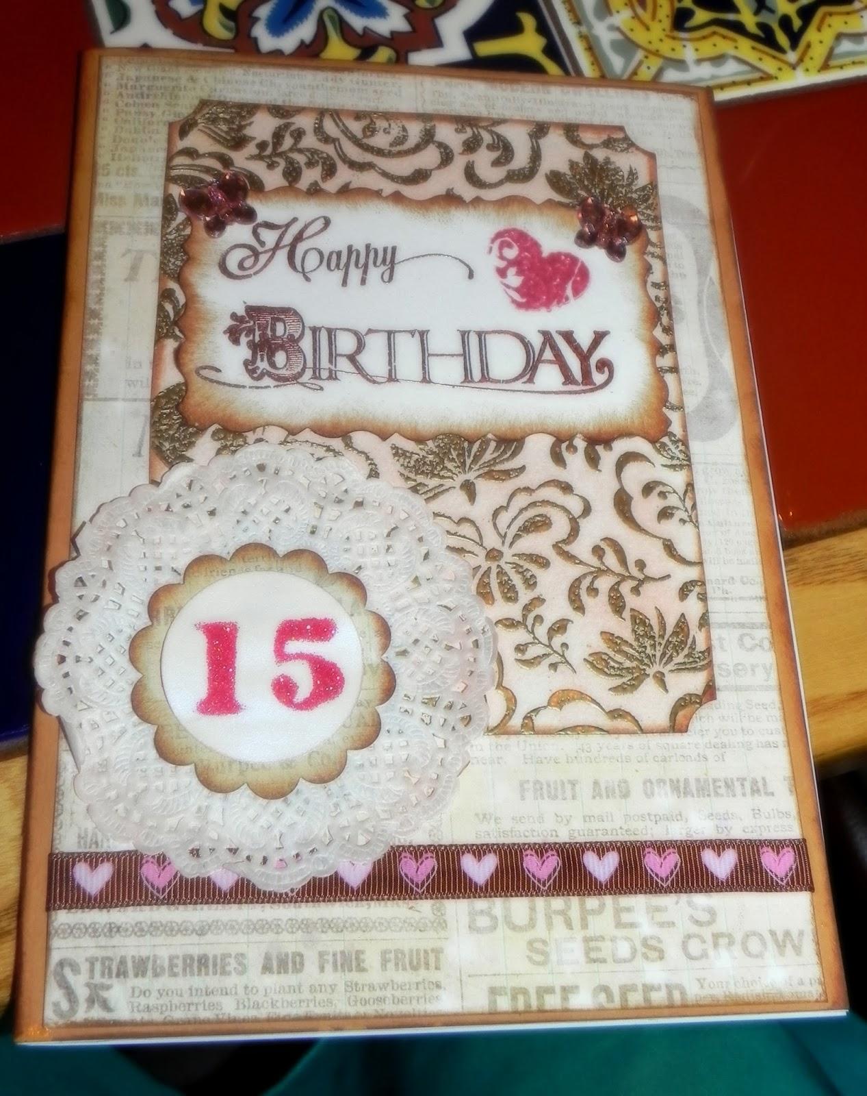 Fotos scrap y algo mas tarjeta cumplea os 15 a os - Cumpleanos 15 anos ...