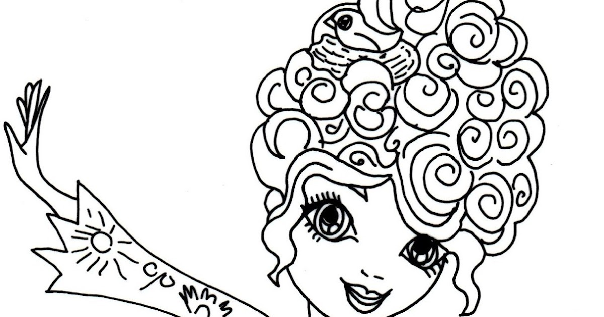 Free printable ever after high coloring pages featherly for Ever after coloring pages